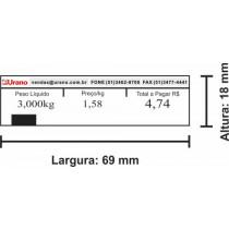 Etiqueta Urano sem data - 69mm x 18mm