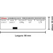 Etiqueta Urano com uma data - 90mm x 24mm