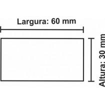 Etiqueta Térmica Urano  30mm x 60mm, com gap