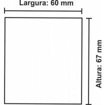 Etiqueta Térmica Urano 67mm x 60mm, com gap
