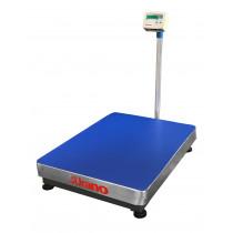 Balança de plataforma UR 10000 LIGHT 500/100, 60X80cm, estrutura metálica, bandeja e coluna aço inox