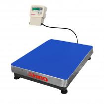 Balança de plataforma UR 10000 Light 600/100, 60X80CM, estrutura metálica, bandeja aço inox, sem coluna e com suporte para comando, com bateria