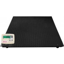 Balança de plataforma UR 10000 LIGHT 1500/500, em aço carbono xadrez,  1,50 X 1,50m, com 4 células de carga, caixa de junção, sem coluna, com suporte para comando