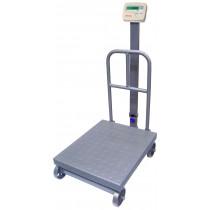 Balança de plataforma UR 10000 Light 300/100, 45X60cm, bandeja e estrutura aço carbono, coluna, encosto e rodas