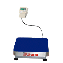 Balança de plataforma UR 10000 LIGHT 60/20, 40X40cm, estrutura metálica, bandeja aço inox, sem coluna e com suporte para comando