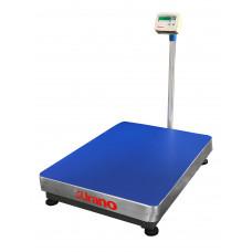 Balança de plataforma UR 10000 LIGHT 600/100, 60X80cm, estrutura metálica, bandeja e coluna aço inox, com bateria