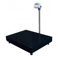 UR 10000 600/100 - Balança de plataforma 60X80cm em aço carbono, pesadora e contadora, coluna aço inox