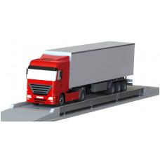 Balança rodoviária Rodo Cargo 9 X 3,2m, 40T, vigas metálicas laterais e plataforma em concreto, com indicador WT 27