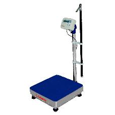 Balança de plataforma UR 10.000 Light 300/100, 40X40CM, estrutura metálica, suporte, bandeja em aço inox, com coluna, sem bateria e com antropômetro